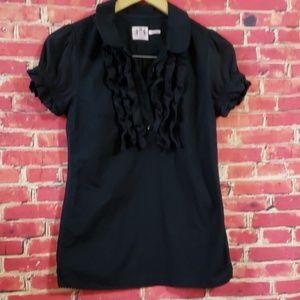 Juicy couture Ruffled neck Women's Black Blouse 2